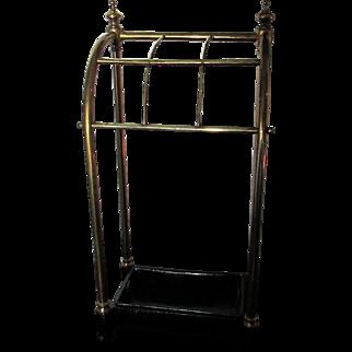 Fine C1900 English Brass & Cast Iron Walking stick / Umberella stand