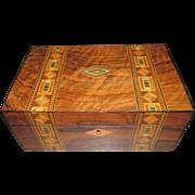 C1890 Inlaid Jewellery / Table Box