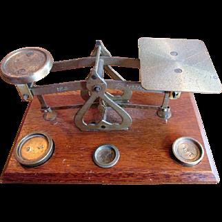 Edwardian English Desk Scales