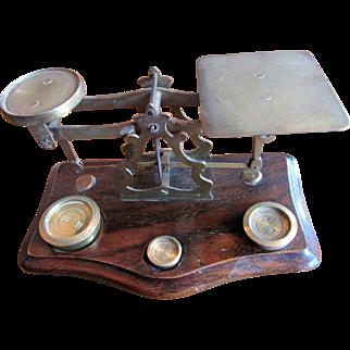 Set of Edwardian English Desk Scales