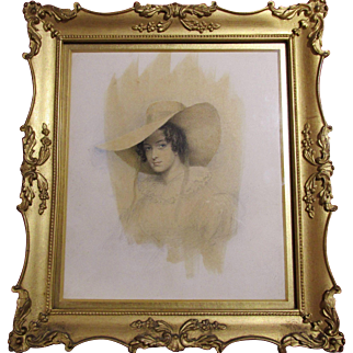 Early Victorian Portrait Watercolour