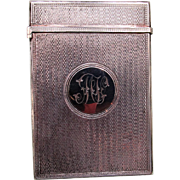 Fine C1848 English Hallmarked Sterling Silver Card Case