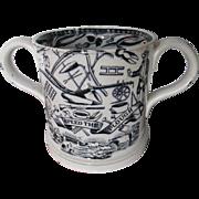 Late C19th Staffordshire God Speed The Plough Mug
