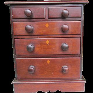 C1860 Mahogany Apprentice Cabinet / Table cabinet / Jewellery cabinet
