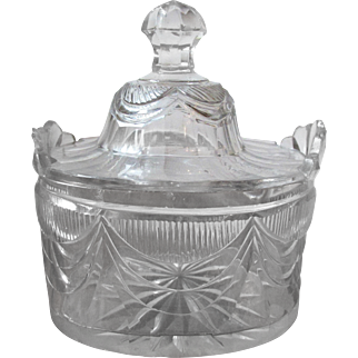Georgian Irish Cut Glass Tea Caddy