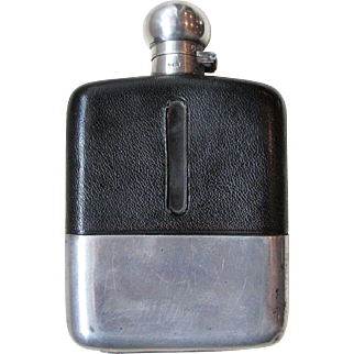 C1900 John Dixon & Sons Leather Hunting Hip Flask