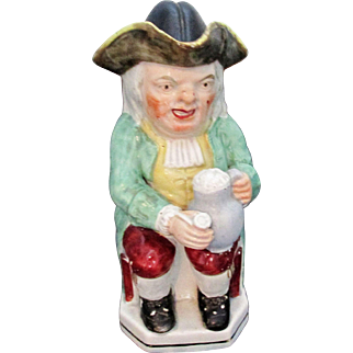 C1850 Staffordshire Pottery Toby Jug