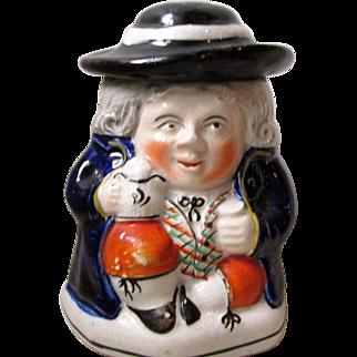C1880 Staffordshire Pottery Tobacco Jar Toby