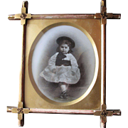 CHarming Victorian photograph on Milk Glass
