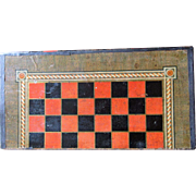 C1880 English Leather Book Form Games Box Chess Etc