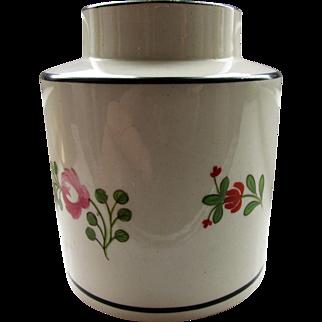 C18th English Creamware Tea Cannister / Tea Caddy