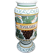 C19th Century Antique Tin Glaze Albarello Drug Jar