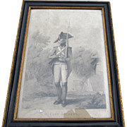 "Henry William Bunbury (1750-1811) Engraving ""Foot Soldier) Hogarth Frame"