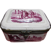 Georgian Painted Enamel Box