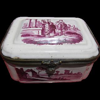 Georgian Painted Enamel Box