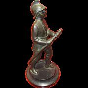 Fine C1920 Bronze Figure of a Fireman / Fire Fighter