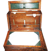 Edwardian English Oak Correspondence & Writing Box