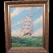 John Millington 1891-1948 Marine Artist Oil On Canvas