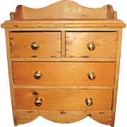 C1900 Antique Pine Spice Chest etc
