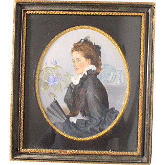 C1903 Oil Painting Female Portrait