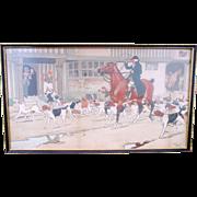 Original C1915 Cecil Aldin Polychrome Print Hunting Scene