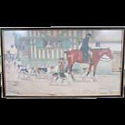 Original C1915 Cecil Aldin Polychrome Hunting Print