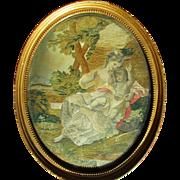 Charming Georgian English Silkwork