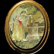 Charming English Georgian Silkwork