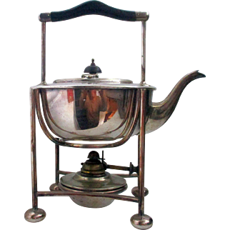 C1880 William Shirtcliff Arts & Crafts Spirit Kettle In the Style Of Christopher Dresser