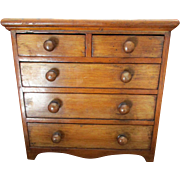 English Victorian Apprentice Piece Miniature Chest of Drawers