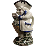 Charming Victorian Staffordshire Pottery Toby Jug