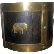 Victorian South Indian Rice Bucket Elephant & Snake Decoration.