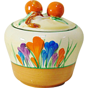 Clarice Cliff Bizarre 'Autumn Crocus' Preserve Pot - Shape 230 - Circa 1928-1932