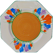Clarice Cliff Octagonal Side Plate - Circa 1932 - 1935