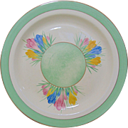 Clarice Cliff 'Spring Crocus' Dinner Plate - Mid to Late 1930's
