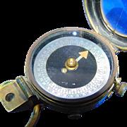 World War I Verner's Pattern VIII Military Compass - E. KOEHN GENEVE SUISSE 1918