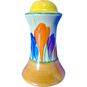 Clarice Cliff Pepper Pot - Early 1930's - Hand Painted 'Autumn Crocus' Design