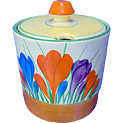 Clarice Cliff 'Autumn Crocus' Preserve Pot - Circa 1932