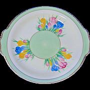 Clarice Cliff 'Spring Crocus' Cake Plate - Circa 1935