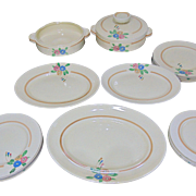 Stunning 24 Piece Clarice Cliff Dinner Set - Late 1930's to Early 1940's