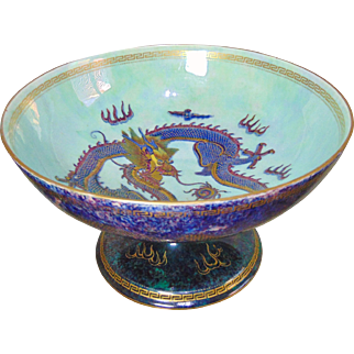 Large Wedgwood Fairyland Lustre Chalice Bowl - Designed By Daisy Makeig-Jones - Circa 1920