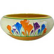 Beautiful Clarice Cliff Crocus Fruit Bowl - Original 1930's Art Deco 'Bizarre' Range