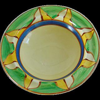 Superb Original Clarice Cliff Art Deco Geometric Design Dessert Bowl - 1929