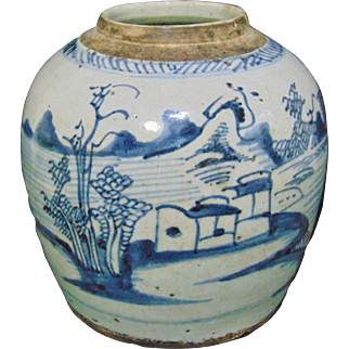 17th Century Chinese Stoneware Ginger Jar - Late Ming / Early Qing Period