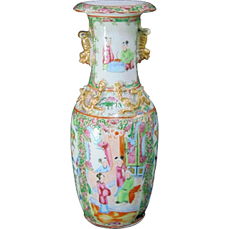 Mid 19th Century Chinese 'Canton' Cylindrical Porcelain Vase