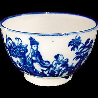 Antique 18th Century Worcester Porcelain Tea bowl – Mother and child decoration – Circa 1780