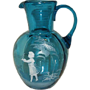 Antique Mary Gregory pitcher