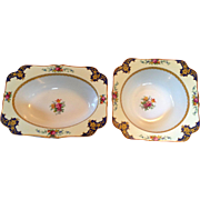 Set Two Crown Ducal Vegetable Bowls, Westminster Pattern