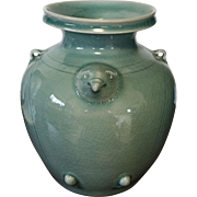 Vintage Large 'Celadon' Pottery Jar