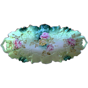 R.S. Prussia Porcelain Dish, Hand Paint Painted